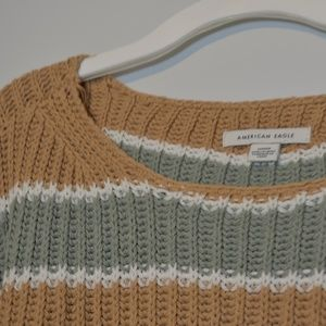 Yellow and Green Striped Sweater (cropped)